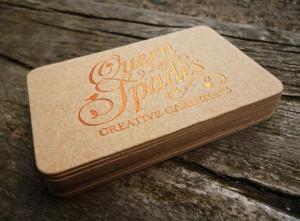 Foil Stamping On Recycled Kraft Business Card Manhattan