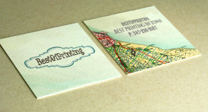 Textured Full Color Printed Business Card Brooklyn