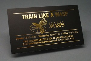 Gold Foil Stamped Business Card Printing Manhattan