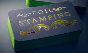 Foil Stamping and Edge Painted Business Card NYC
