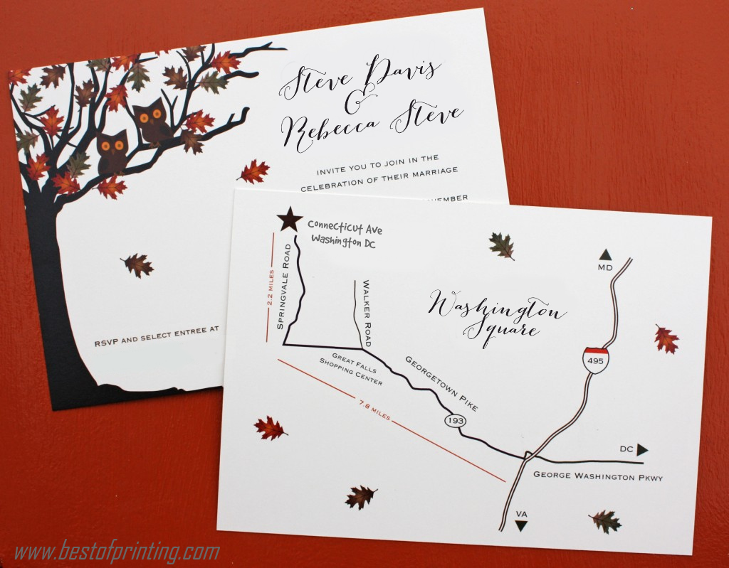 full color printed invitation cards connecticut - Invitation Card Printing