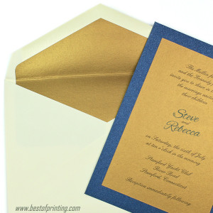 Metallic Golden Inner Envelope New York