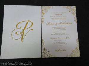 Invitation with Gold Foil and Embossing NYC