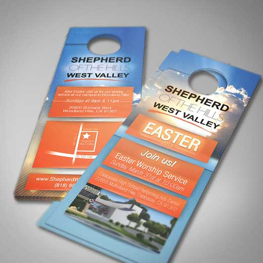 Door hanger printing cheap hanger flyers for 10000 door hangers
