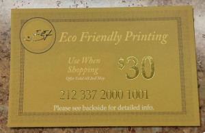Foil Stamping Gift Certificate New Jersey