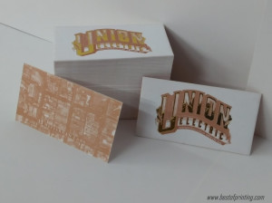 Gold Foil plus Pantone Prined Business Card NYC