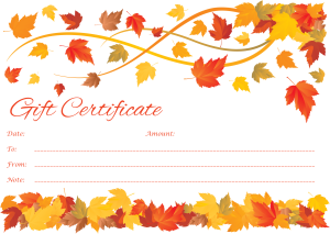 Full Color Printed Gift Certificate New York