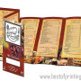 Tri Fold Menu Printed Connecticut