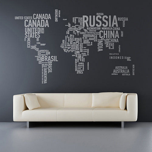 Wall decal printing nyc removable wall decals for kids for Autocollant mural texte