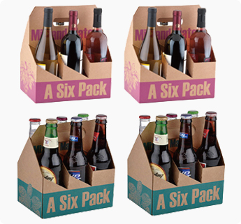 Corrugated packing boxes wholsale moving and shipping for 6 pack beer carrier template